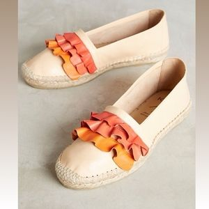 Anthropologie KMB Ruffled Espadrilles